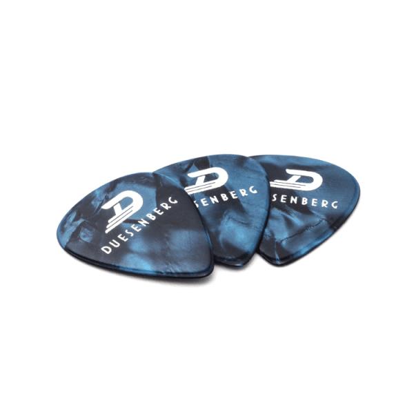 Duesenberg Celluloid Picks, Blue Pearl